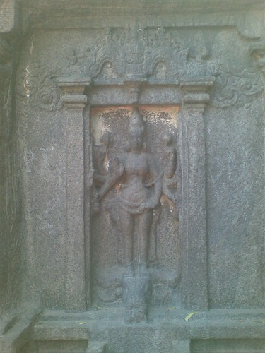 Durga as Mahishasuramardini, Trimurti Mandapam, Mamallapuram