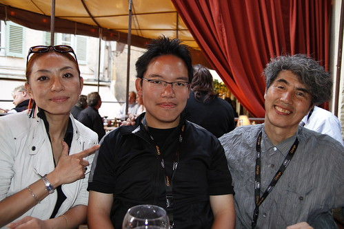 With Kobayashi-sensei and Ando-sensei