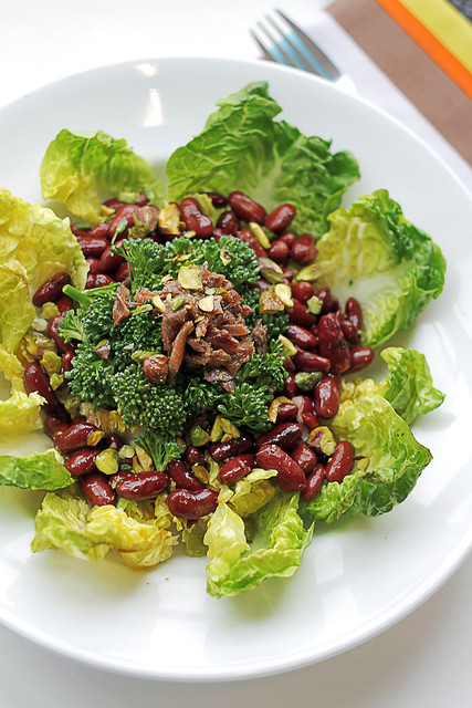 Anchovies, Kidney beans and Broccoli