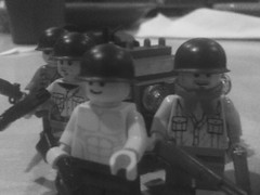 WW2 U.S. Troops (Fritz4783) Tags: world two white black infantry war lego jeep ww2 willys allies garand brickarms brickmania m1pot