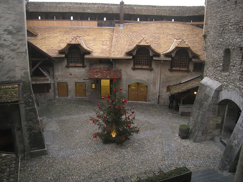 Castle courtyard
