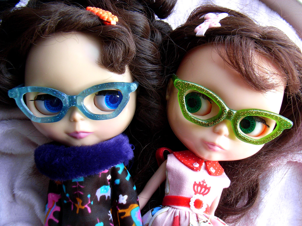 3ef203ad6f6 Miss Maude and Miss Linda (AddictedToPlastic) Tags  red doll linda kenner  blythe maude