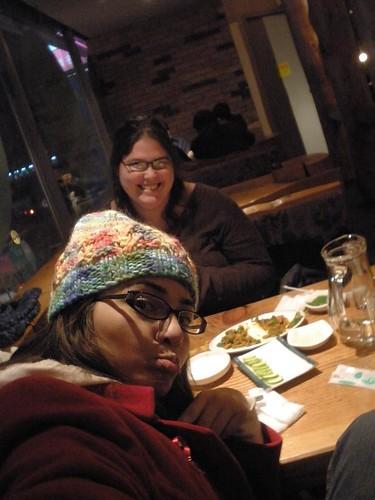 Tina & I at dinner