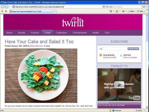 Cakespy Featured on Twirlit.com!