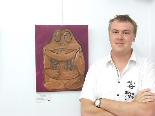Chocolate delight. Kiss of a Frog - Sam Blanch's Bridges to Elsewhere exhibition.JPG