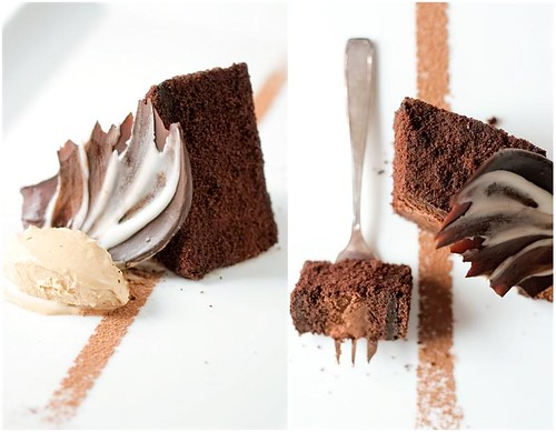 Chocolate Espresso Mousse Cake & Latte Ice Cream