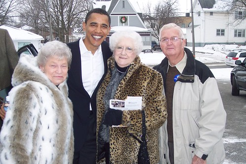 My grandparents, a friend, and Barack Obama