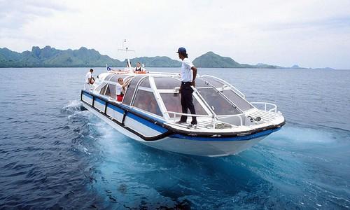 1994.01-08b Renaissance VI's tender at Komodo Island 1994