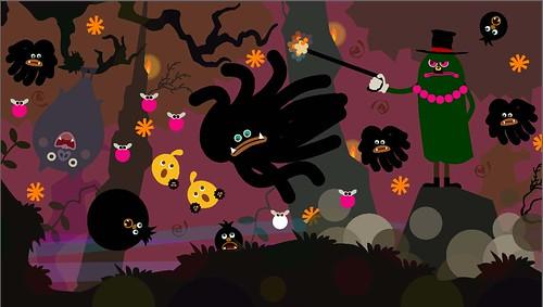 LocoRoco2 screenshot dark moja