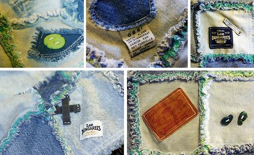 Denim Rag Quilt -- Details