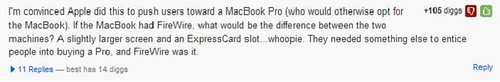 Digg Firewire comment