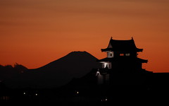 Mt.Fuji (♥ Spice (^_^)) Tags: camera sunset sky orange mountain color castle nature beautiful silhouette japan clouds canon dark geotagged photography eos lights photo amazing interesting asia flickr image creative picture vivid explore photographs photograph 夕陽 日本 fujisan portfolio 雲 自然 山 夕日 空 城 富士山 mtfuji gettyimages larawan 写真 ライトアップ twitter colorpicture creativeimages 茨城県 golddragon abigfave canoneos50d colorimages platinumphoto anawesomeshot colorphotoaward aplusphoto 関宿 citrit ysplix 渡良瀬川 キャノン goldstaraward thebestofday gününeniyisi シルエット ライト 2009年 ダーク フリッカ