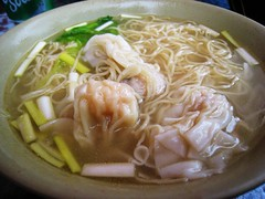 Wanton noodle  (MelindaChan ^..^) Tags: food dinner lunch soup restaurant yummy yum cook shrimp meat mel eat meal noodle melinda wanton wantonsoup chanmelmel