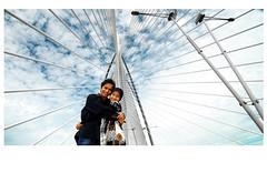Sneak Peak (neys) Tags: bridge wedding slr art love nikon hug couple pattern malaysia d200 putrajaya cinta malaysian 1224mm melayu starburst prewedding abstact neys jambatan cium peluk