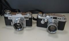 Contax IIa and Leica IIIg (jiulong) Tags: leica zeiss contax leitz barnack iia iiig