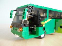 Minifig scale coach (5) (Mad physicist) Tags: bus coach model lego minifig minifigure