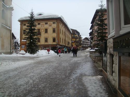 Centro de la calle peatonal