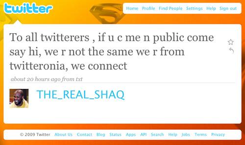 twitter de Shaq