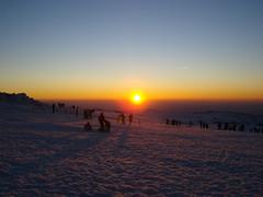 The Sun Goes to Sleep (Raquel) Tags: sunset snow portugal dusk neve serradaestrela ilustrarportugal