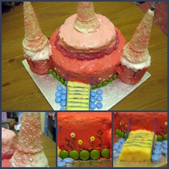 Amy's cake (stephalie1977) Tags: birthday castle cake amy princess 3yearsold picnik 50365 hpad hpad190209