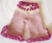 Crocheted Wool Capris (Large)