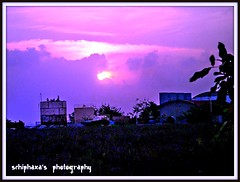 this is the perfect day with you ( S H I F F ) Tags: blue sunset summer sky sun holiday nature fun happy evening flickr purple unique memories skylight experiment explore lanka sunrays 2008 sillhoute schiphaxa
