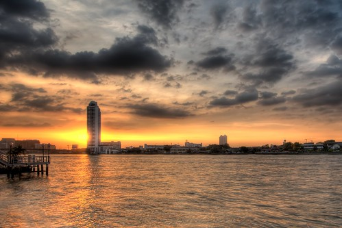 Sunset on the Chao Phraya