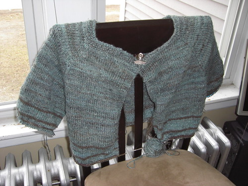 Sweater Progress 3-15 front off center