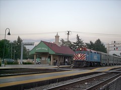Westbound Metra commuter local. River Grove Illinois. Early October 2007.