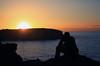 (Claryana) Tags: ocean blue sea sky sun seascape man black water silhouette clouds sunrise dawn pfogold