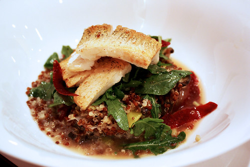 Pan Roasted Pickerel with Red Quinoa