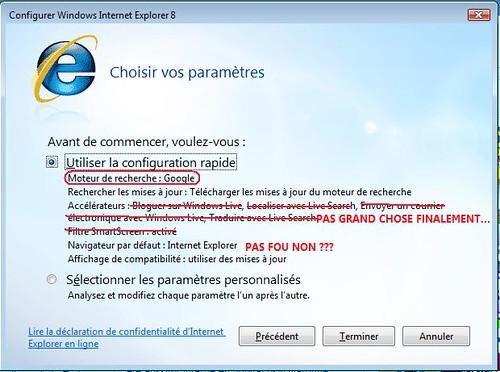 Configuration Internet Explorer 8
