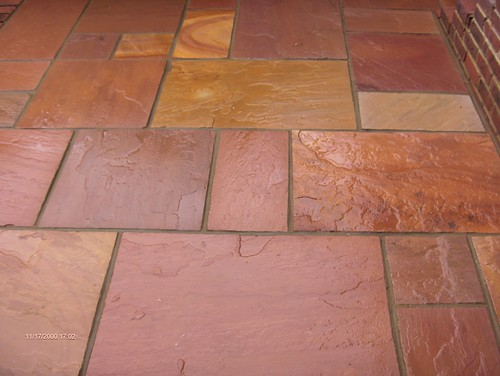 Indian Sandstone Patio and Lawn Image 30