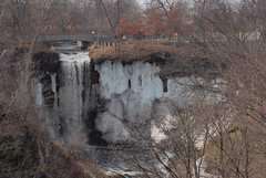 Minnehaha Falls During the First Weekend of Spring (john.watne) Tags: park usa ice water minnesota rock wow march frozen waterfall minneapolis bikeride mn impressive minnehahafalls firstweekendofspring
