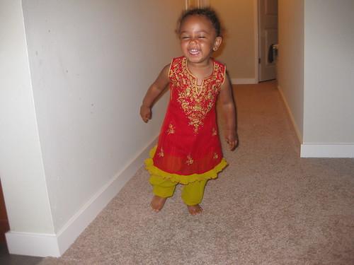Maya Dresses up