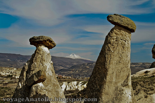 Mt. Erciyes and Fairy Chimneys by voyageAnatolia