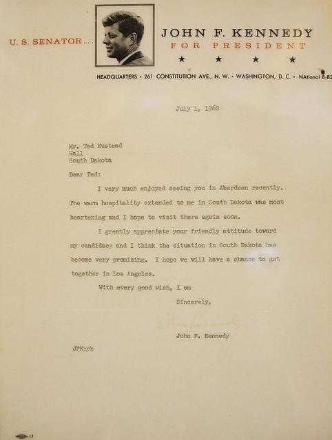 Letter from the Senator