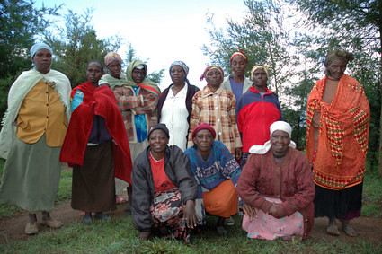 In this group, most women are above 50 year-old--They still have to struggle with raising themselves, their children and their husbands.