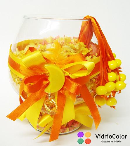 Copón grande en Naranja y amarillo
