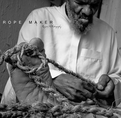 Rope Maker -   (Rayan M.) Tags: old portrait blackandwhite bw h