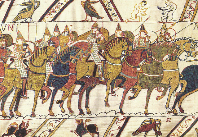 Bayeux Tapestry 20 Norman cavalry sets off for battle