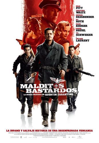 Nuevo trailer y póster español de 'Malditos bastardos'
