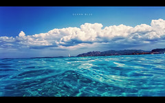 P&S: Ocean blue (isayx3) Tags: blue andy water clouds canon is sardinia underwater post wave powershot explore process frontpage firdays ociean silboat plainjoe lasnscape sd870 wpdc17  isayx3