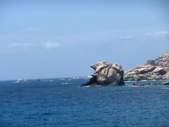 En quittant Cala di Conca : le rocher-tortue