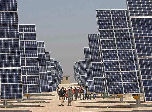 Un planta de energia solar
