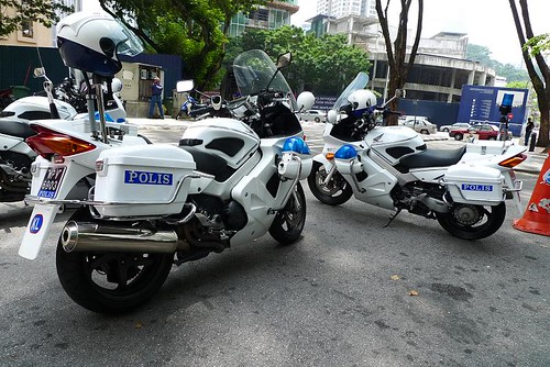 Police Only Use Yamaha Bike
