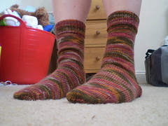 Modelling my first successful socks!