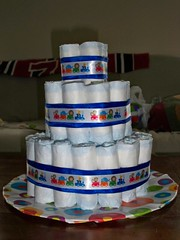 Diaper Cake - Step 6