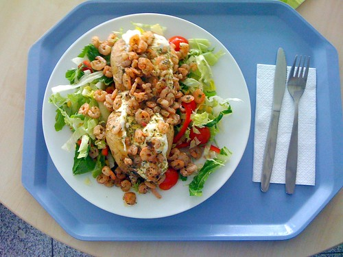 Ofenkartoffel & Shrimps