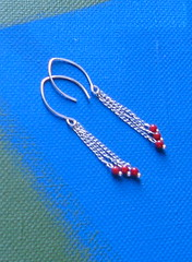 lisbon (smallandmighty09) Tags: coral fun colorful jewelry earrings simple dangle sleek whimsical cherryred sterlingsilver applered smallandmighty cccoeteam